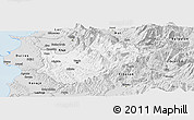 Silver Style Panoramic Map of Tiranë