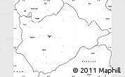 Blank Simple Map of Tiranë