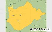 Savanna Style Simple Map of Tiranë