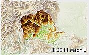 Physical 3D Map of Tropojë, lighten