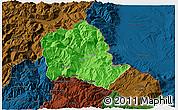Political 3D Map of Tropojë, darken