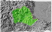 Political 3D Map of Tropojë, desaturated