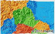 Political 3D Map of Tropojë