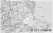Silver Style 3D Map of Tropojë