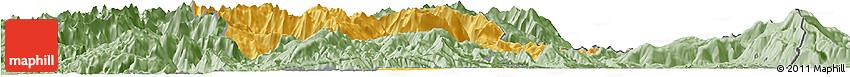 Savanna Style Horizon Map of Tropojë