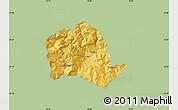 Savanna Style Map of Tropojë, single color outside
