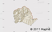 Shaded Relief Map of Tropojë, cropped outside