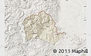 Shaded Relief Map of Tropojë, lighten
