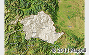 Shaded Relief Map of Tropojë, satellite outside