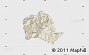 Shaded Relief Map of Tropojë, single color outside
