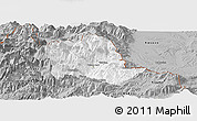 Gray Panoramic Map of Tropojë