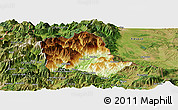 Physical Panoramic Map of Tropojë, satellite outside