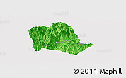 Political Panoramic Map of Tropojë, single color outside