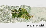 Satellite Panoramic Map of Tropojë, lighten
