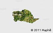 Satellite Panoramic Map of Tropojë, single color outside