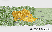 Savanna Style Panoramic Map of Tropojë
