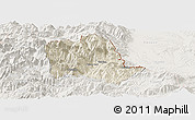 Shaded Relief Panoramic Map of Tropojë, lighten
