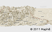 Shaded Relief Panoramic Map of Tropojë