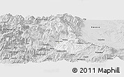 Silver Style Panoramic Map of Tropojë