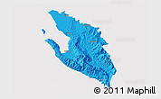 Political 3D Map of Vlorë, cropped outside