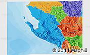 Political 3D Map of Vlorë