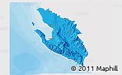 Political 3D Map of Vlorë, single color outside