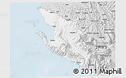 Silver Style 3D Map of Vlorë