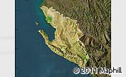 Satellite Map of Vlorë, darken