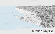 Gray Panoramic Map of Vlorë