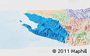 Political Panoramic Map of Vlorë, lighten