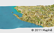 Satellite Panoramic Map of Vlorë