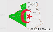 Flag 3D Map of Algeria