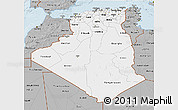 Gray 3D Map of Algeria
