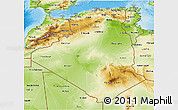 Physical 3D Map of Algeria
