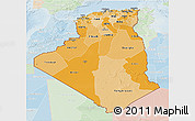 Political Shades 3D Map of Algeria, lighten