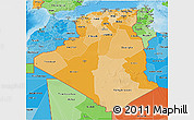 Political Shades 3D Map of Algeria