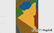 Political Map of Adrar, darken