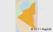 Political Map of Adrar, lighten