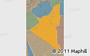 Political Map of Adrar, semi-desaturated