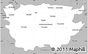 Gray Simple Map of Ain Dafla