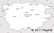 Silver Style Simple Map of Ain Dafla, cropped outside