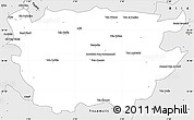 Silver Style Simple Map of Ain Dafla