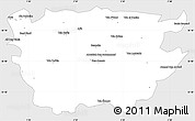 Silver Style Simple Map of Ain Dafla, single color outside