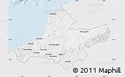 Silver Style Map of Ain Tamouchent, single color outside