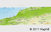 Physical Panoramic Map of Ain Tamouchent