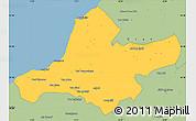 Savanna Style Simple Map of Ain Tamouchent