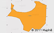 Political Simple Map of Alger, cropped outside