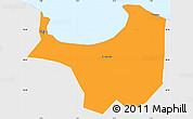 Political Simple Map of Alger, single color outside