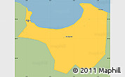 Savanna Style Simple Map of Alger, single color outside