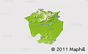 Physical 3D Map of Annaba, cropped outside